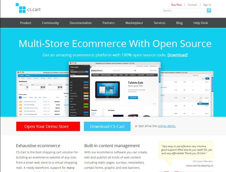 cs cart multivendor software