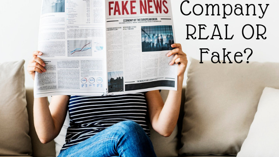 how to check company is real or fake