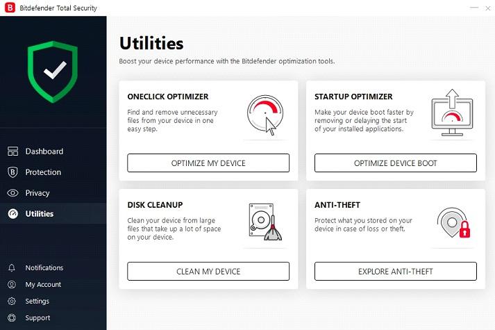 Bitdefender utilities