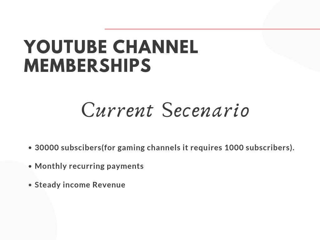 youtube channel membership requirement