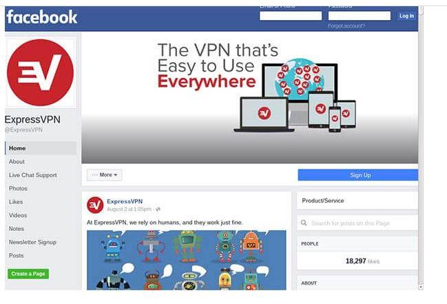 Facebook in Dark Web