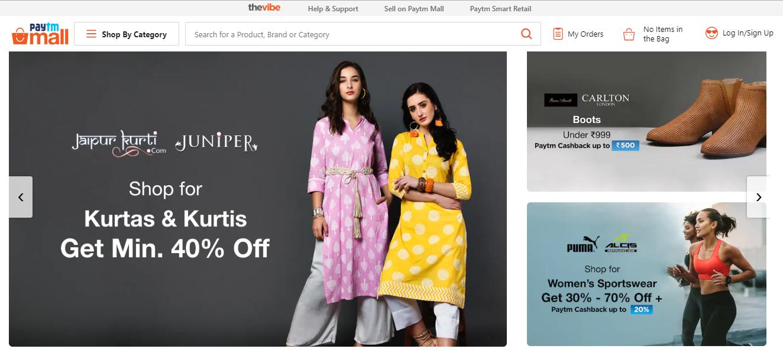 Paytm mall women clothing