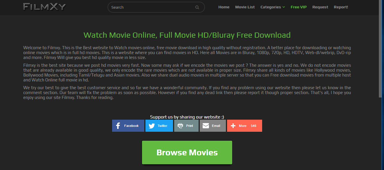 FilmXy Free Bluray movies download website