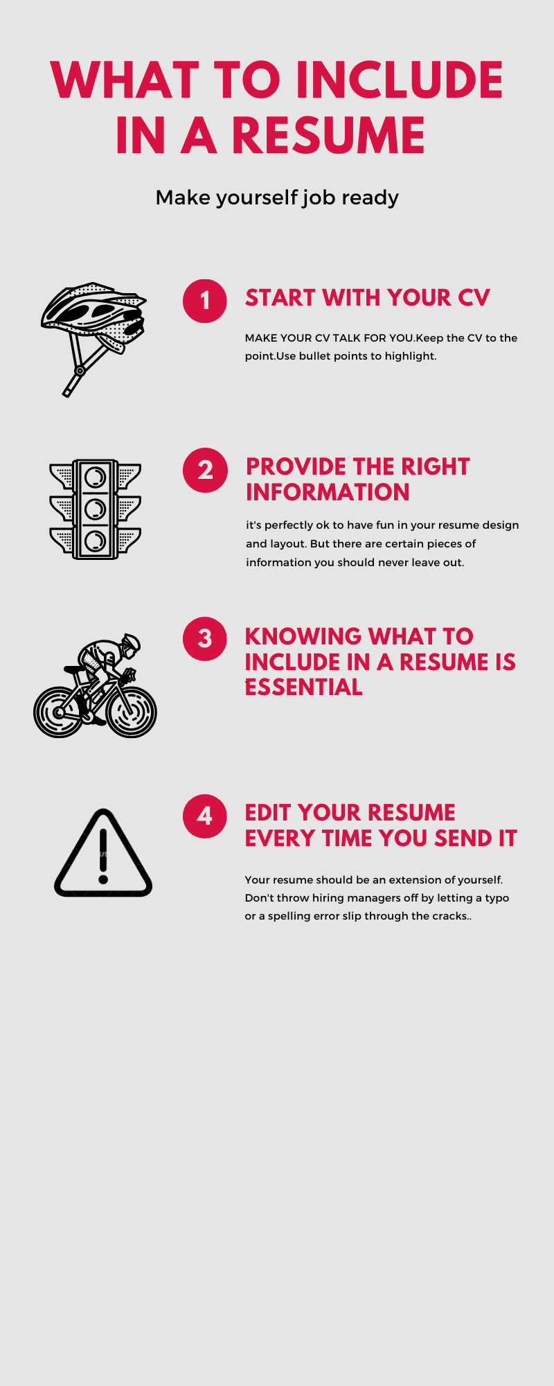 What to Include in a Perfect CV